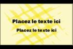 Entrelacs jaunes Carte d'affaire - gabarit prédéfini. <br/>Utilisez notre logiciel Avery Design & Print Online pour personnaliser facilement la conception.