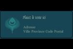 Plume de paon Étiquettes D'Adresse - gabarit prédéfini. <br/>Utilisez notre logiciel Avery Design & Print Online pour personnaliser facilement la conception.