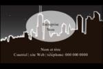 Ville nocturne Carte d'affaire - gabarit prédéfini. <br/>Utilisez notre logiciel Avery Design & Print Online pour personnaliser facilement la conception.