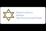 Rouleau de la Torah Étiquettes D'Adresse - gabarit prédéfini. <br/>Utilisez notre logiciel Avery Design & Print Online pour personnaliser facilement la conception.