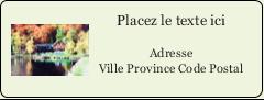 """⅔"""" x 1¾"""" Étiquettes D'Adresse - Maison du lac"""