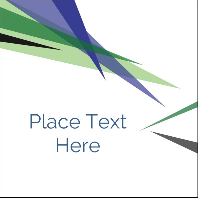 """1½"""" x 1½"""" Square Label - Multi-Coloured Triangles"""