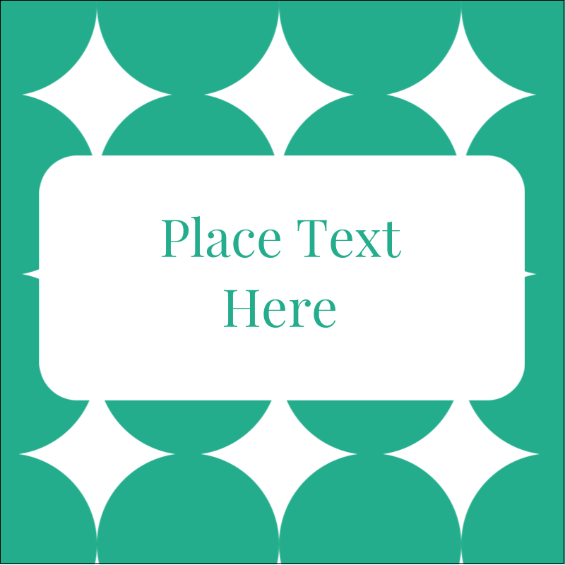 "1½"" x 1½"" Square Label - Teal Green Circles"