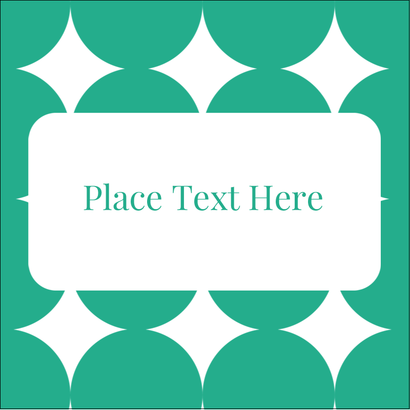 """2"""" x 2"""" Square Label - Teal Green Circles"""