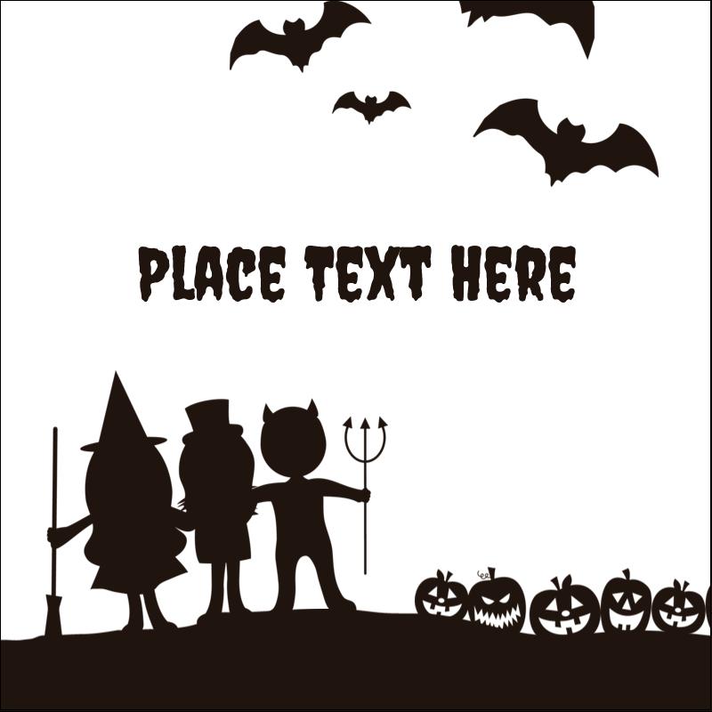 "2"" x 2"" Sqaure Label - Halloween Kids"