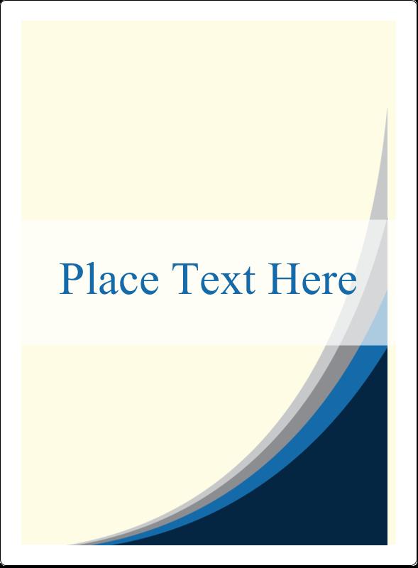 "4¾"" x 3½"" Rectangular Label - Blue Wave"