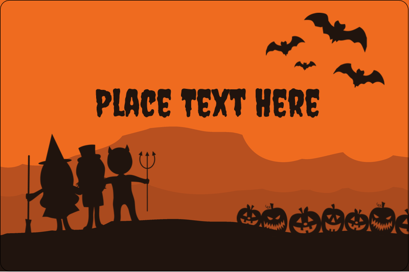 "2"" x 3"" Rectangular Label - Halloween Kids"