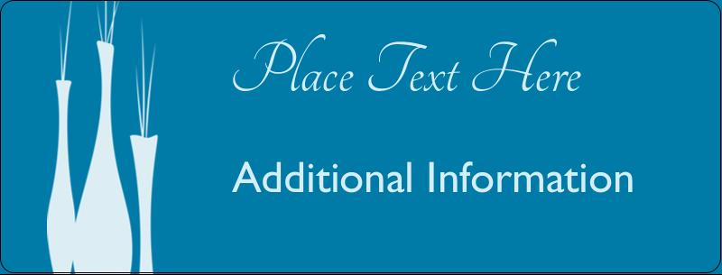 """½"""" x 1¾"""" Address Label - Interior Design Vases"""