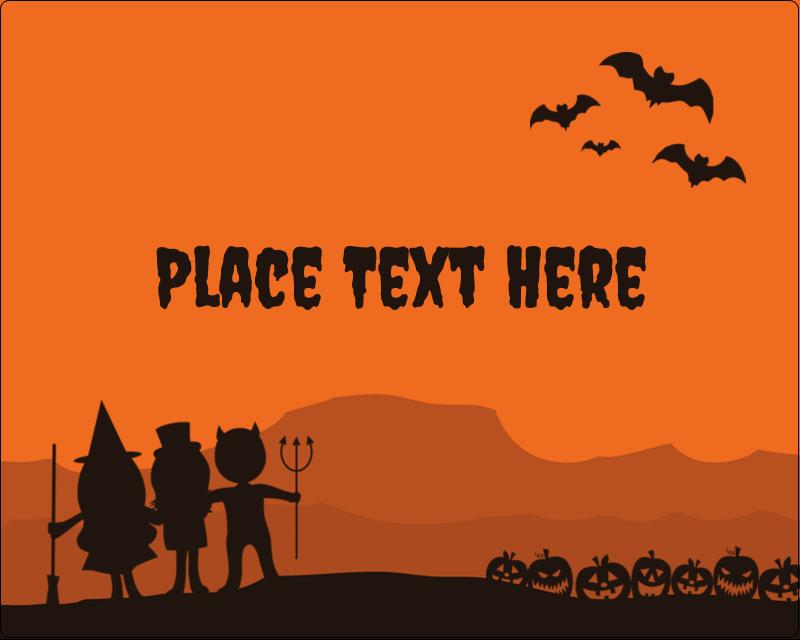 "3"" x 3¾"" Rectangular Label - Halloween Kids"