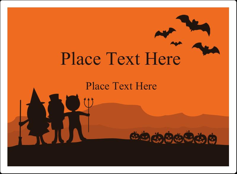 "3½"" x 4¾"" Rectangular Label - Halloween Kids"