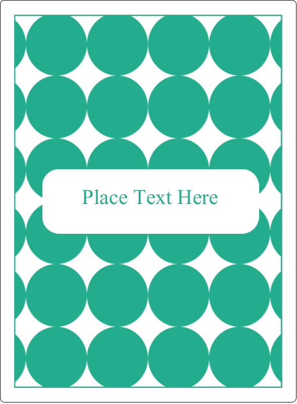 "4¾"" x 3½"" Rectangular Label - Teal Green Circles"