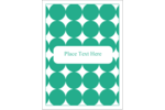 Infuse simple style into custom projects with pre-designed Teal Green Circles templates.
