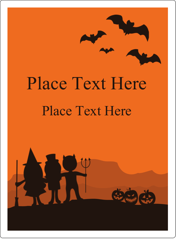 "4¾"" x 3½"" Rectangular Label - Halloween Kids"