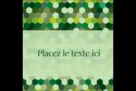 Hexagones verts Étiquettes carrées - gabarit prédéfini. <br/>Utilisez notre logiciel Avery Design & Print Online pour personnaliser facilement la conception.