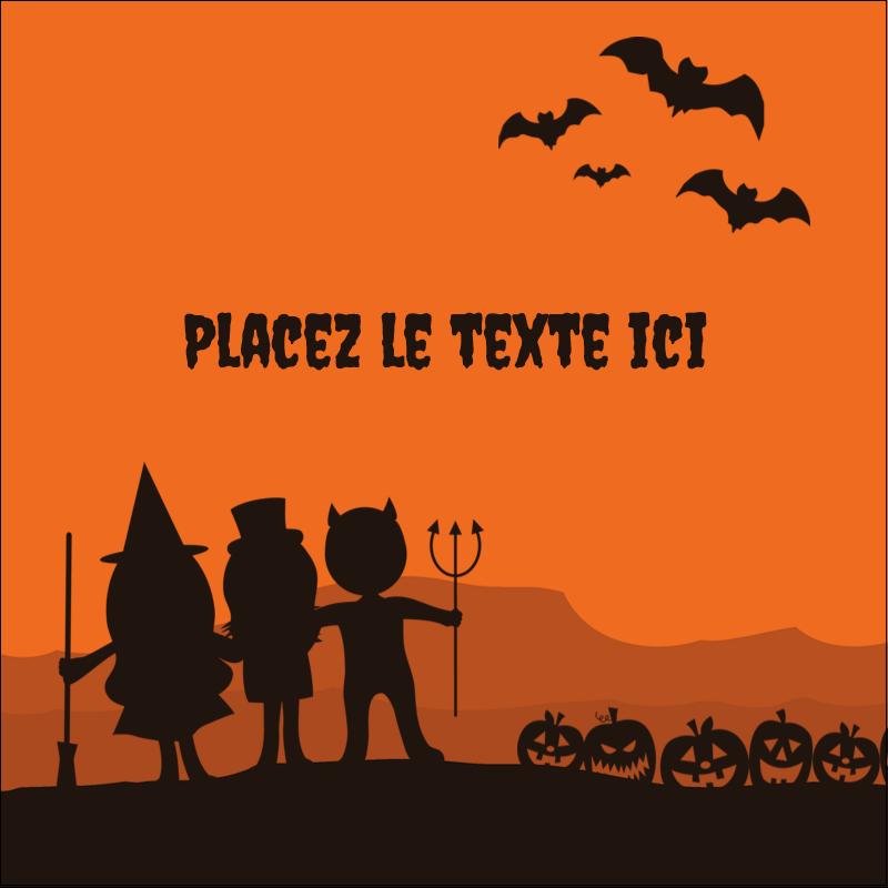 """2"""" x 2"""" Étiquettes carrées - Enfants à l'Halloween"""