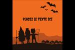 Enfants à l'Halloween Étiquettes carrées - gabarit prédéfini. <br/>Utilisez notre logiciel Avery Design & Print Online pour personnaliser facilement la conception.
