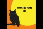 Chouette d'Halloween Étiquettes carrées - gabarit prédéfini. <br/>Utilisez notre logiciel Avery Design & Print Online pour personnaliser facilement la conception.