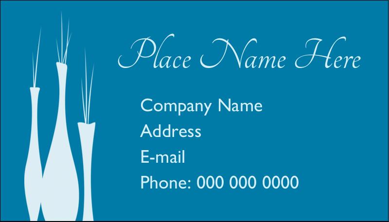 """2"""" x 3½"""" Business Card - Interior Design Vases"""