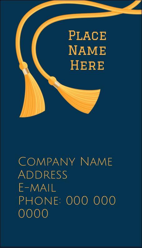 """3½"""" x 2"""" Business Card - Grad Tassel"""