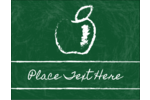 Feed your brain with this chalk apple design.