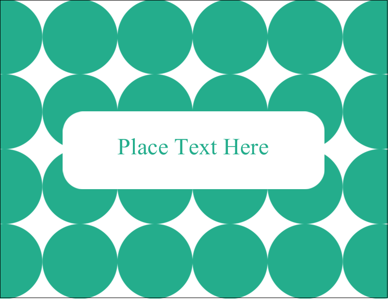 "4¼"" x 5½"" Postcard - Teal Green Circles"