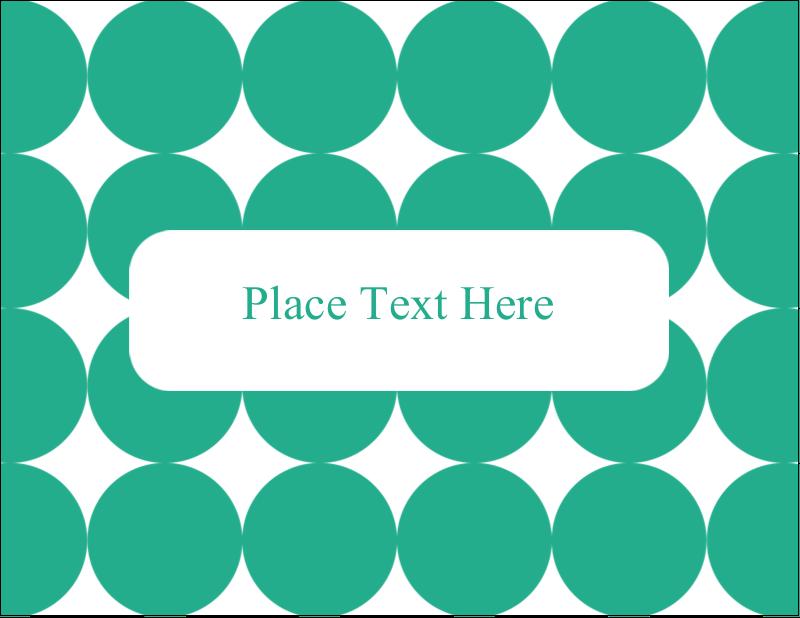 "5½"" x 4¼"" Postcard - Teal Green Circles"
