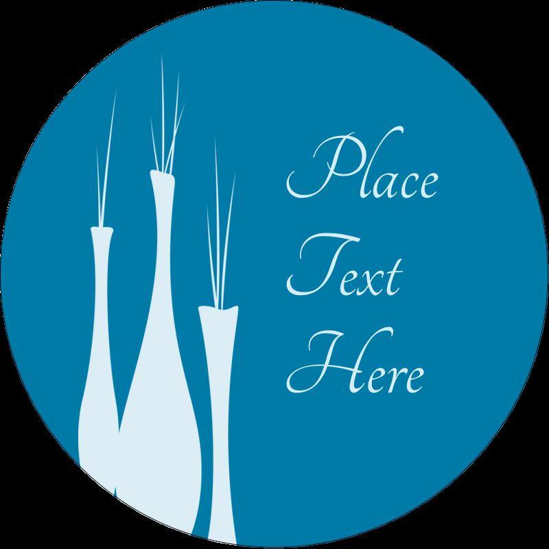 """3"""" Round Label - Interior Design Vases"""