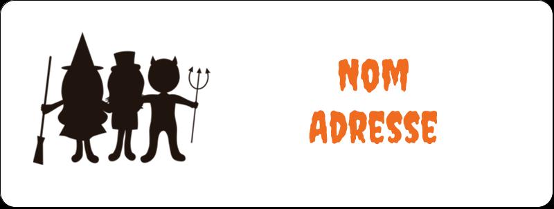 """⅔"""" x 1¾"""" Étiquettes D'Adresse - Enfants à l'Halloween"""