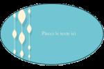 Rideau de perles bleues Étiquettes ovales - gabarit prédéfini. <br/>Utilisez notre logiciel Avery Design & Print Online pour personnaliser facilement la conception.