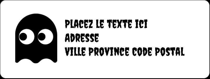 """⅔"""" x 1¾"""" Étiquettes D'Adresse - Fantômes Pac-Man d'Halloween"""