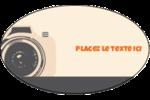 Appareil photo rétro Étiquettes ovales - gabarit prédéfini. <br/>Utilisez notre logiciel Avery Design & Print Online pour personnaliser facilement la conception.