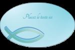 Ichthus Étiquettes ovales - gabarit prédéfini. <br/>Utilisez notre logiciel Avery Design & Print Online pour personnaliser facilement la conception.