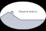 Construction de maison Étiquettes ovales - gabarit prédéfini. <br/>Utilisez notre logiciel Avery Design & Print Online pour personnaliser facilement la conception.