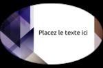 Prisme de verre Étiquettes ovales - gabarit prédéfini. <br/>Utilisez notre logiciel Avery Design & Print Online pour personnaliser facilement la conception.