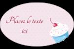 Petit gâteau aux cerises Étiquettes ovales - gabarit prédéfini. <br/>Utilisez notre logiciel Avery Design & Print Online pour personnaliser facilement la conception.