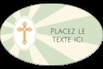 Croix pastel Étiquettes ovales - gabarit prédéfini. <br/>Utilisez notre logiciel Avery Design & Print Online pour personnaliser facilement la conception.