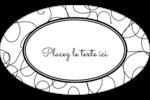 Gribouillis Étiquettes ovales - gabarit prédéfini. <br/>Utilisez notre logiciel Avery Design & Print Online pour personnaliser facilement la conception.