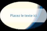 Vague bleue Étiquettes ovales - gabarit prédéfini. <br/>Utilisez notre logiciel Avery Design & Print Online pour personnaliser facilement la conception.