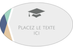 Diplômes et couleurs Étiquettes ovales - gabarit prédéfini. <br/>Utilisez notre logiciel Avery Design & Print Online pour personnaliser facilement la conception.
