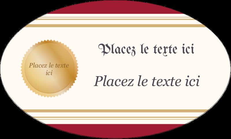 """1½"""" x 2½"""" Étiquettes ovales - Diplôme d'études"""