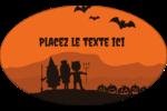 Enfants à l'Halloween Étiquettes ovales - gabarit prédéfini. <br/>Utilisez notre logiciel Avery Design & Print Online pour personnaliser facilement la conception.