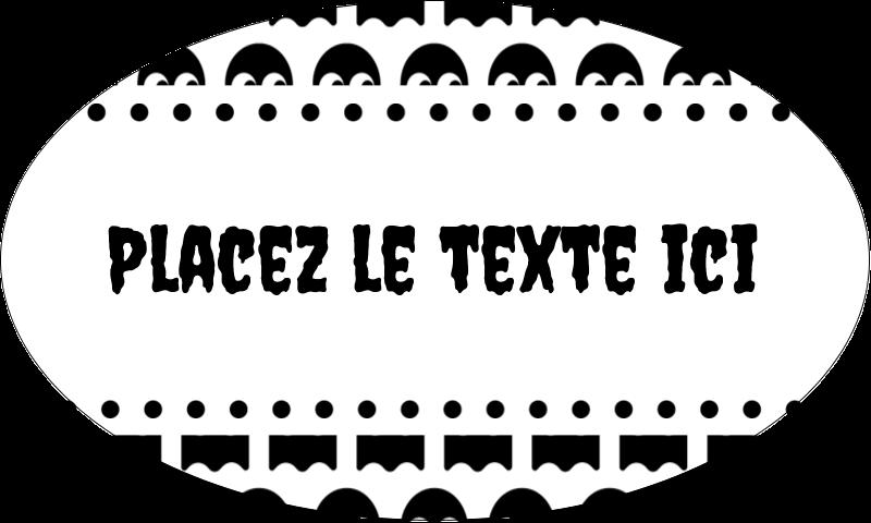 """1½"""" x 2½"""" Étiquettes ovales - Fantômes Pac-Man d'Halloween"""