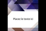 Prisme de verre Étiquettes carrées - gabarit prédéfini. <br/>Utilisez notre logiciel Avery Design & Print Online pour personnaliser facilement la conception.