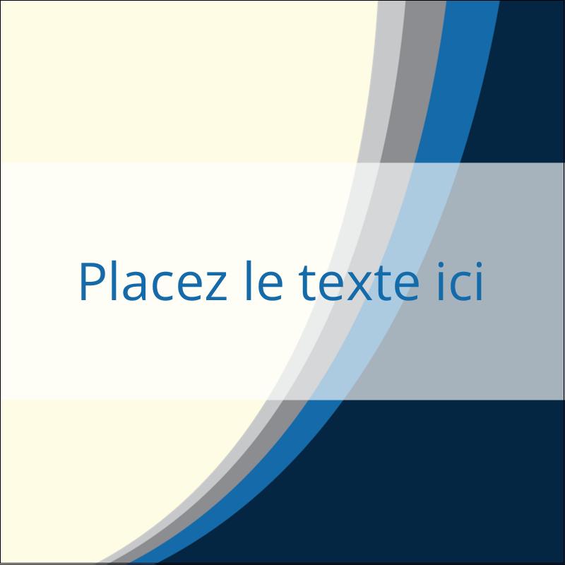 """1½"""" x 1½"""" Étiquettes carrées - Vague bleue"""
