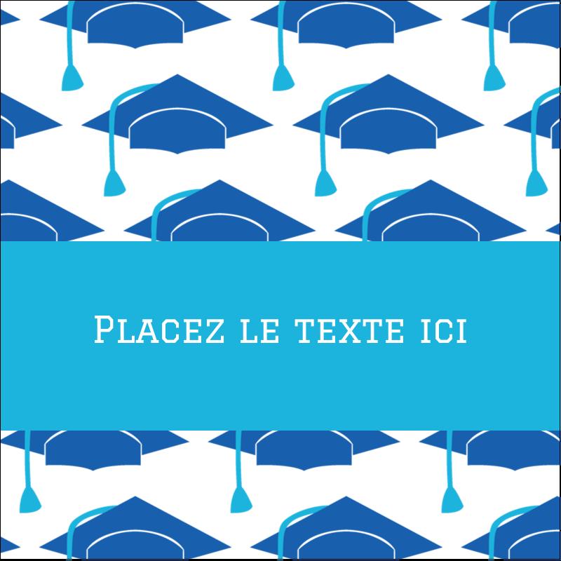 """1½"""" x 1½"""" Étiquettes carrées - Mortiers de diplômés"""