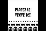 Fantômes Pac-Man d'Halloween Étiquettes carrées - gabarit prédéfini. <br/>Utilisez notre logiciel Avery Design & Print Online pour personnaliser facilement la conception.