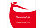Danseuse rouge Étiquettes carrées - gabarit prédéfini. <br/>Utilisez notre logiciel Avery Design & Print Online pour personnaliser facilement la conception.