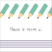 Rangée de crayons