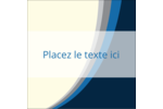 Vague bleue Étiquettes carrées - gabarit prédéfini. <br/>Utilisez notre logiciel Avery Design & Print Online pour personnaliser facilement la conception.