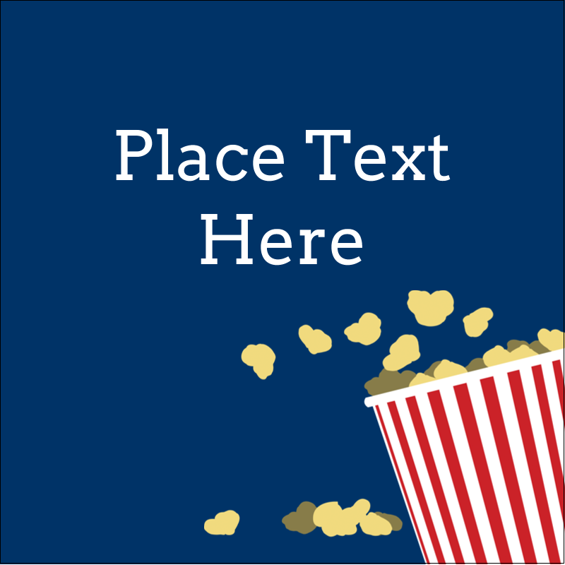 "1½"" x 1½"" Square Label - Movie Popcorn"